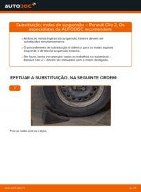 Como realizar a substituição de Molas no 1.2 Renault Clio 2