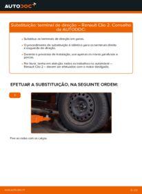 Como realizar a substituição de Ponteiras de Direcção no 1.2 Renault Clio 2