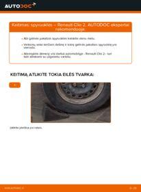 Kaip atlikti keitimą: 1.2 Renault Clio 2 Spyruoklės