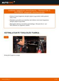 Kaip atlikti keitimą: 1.2 Renault Clio 2 Bagazines Amortizatorius