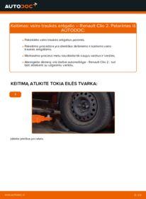 Kaip atlikti keitimą: 1.2 Renault Clio 2 Skersinės vairo trauklės galas