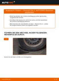 Wie der Wechsel durchführt wird: Federn Renault Clio 2 1.2 1.2 16V 1.5 dCi tauschen