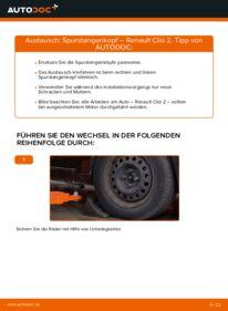 Wie der Wechsel durchführt wird: Spurstangenkopf 1.2 Renault Clio 2 tauschen