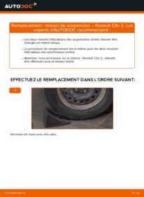 Comment effectuer un remplacement de Ressort d'Amortisseur sur 1.2 Renault Clio 2