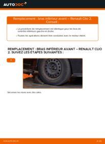 Comment effectuer un remplacement de Bras de Suspension sur 1.2 Renault Clio 2