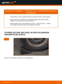 Wie der Wechsel durchführt wird: Radlager 1.2 Renault Clio 2 tauschen