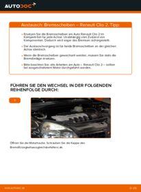 Wie der Wechsel durchführt wird: Bremsscheiben 1.2 Renault Clio 2 tauschen