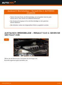 Wie der Wechsel durchführt wird: Bremsbeläge 1.2 Renault Clio 2 tauschen