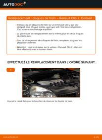 Comment effectuer un remplacement de Disques De Frein sur 1.2 Renault Clio 2