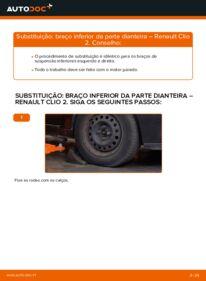 Como realizar a substituição de Braço De Suspensão no 1.2 Renault Clio 2