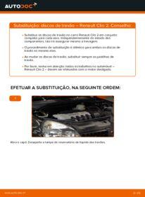 Como realizar a substituição de Discos de Travão no 1.2 Renault Clio 2