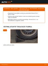 Kaip atlikti keitimą: 1.2 Renault Clio 2 Rato guolis