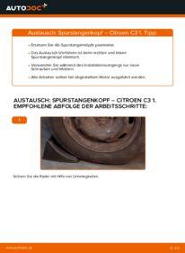 Wie der Wechsel durchführt wird: Spurstangenkopf CITROËN C3 I (FC_) 1.4 HDi 1.4 i 1.1 i tauschen