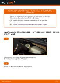 Wie der Ersatz vollführt wird: Bremsbeläge am CITROËN C3