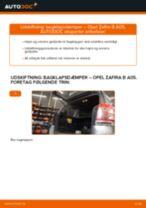 Instruktionsbog OPEL ZAFIRA