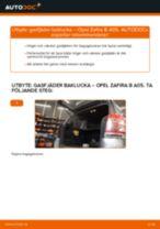 Byta gasfjäder baklucka på Opel Zafira B A05 – utbytesguide