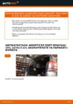Πώς αλλαγη και ρυθμιζω Αμορτισερ πισω πορτας OPEL ZAFIRA: οδηγός pdf