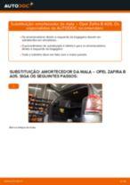 Como mudar amortecedor da mala em Opel Zafira B A05 - guia de substituição
