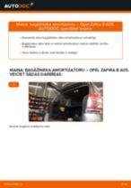 Kā nomainīt: bagāžnieka amortizatoru Opel Zafira B A05 - nomaiņas ceļvedis