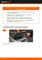 Kaip pakeisti Opel Meriva X03 salono filtro - keitimo instrukcija
