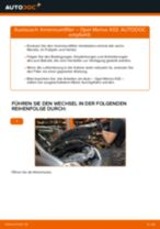 Wie Motorhalterung hinten links beim OPEL MERIVA wechseln - Handbuch online