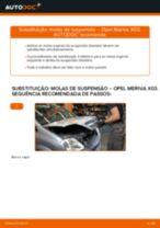 Como mudar molas de suspensão da parte dianteira em Opel Meriva X03 - guia de substituição