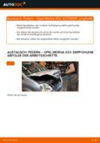 Hilfreiche Fahrzeug-Reparaturanweisung für hinten + vorne Fahrwerksfedern OPEL