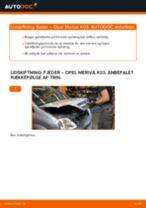 Udskift fjeder for - Opel Meriva X03 | Brugeranvisning