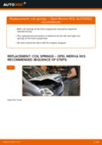 How to change Stabilizer bushes on OPEL MERIVA - manual online