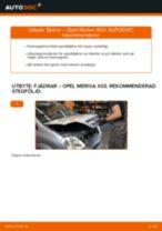 Byta fjädrar fram på Opel Meriva X03 – utbytesguide