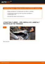 Slik bytter du fjærer fremme på en Opel Meriva X03 – veiledning