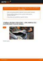 Jak vyměnit přední pružiny podvozku na Opel Meriva X03 – návod k výměně