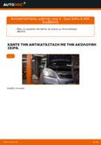 Πώς να αλλάξετε ιμάντας poly-V σε Opel Zafira B A05 - Οδηγίες αντικατάστασης