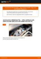 PDF-Anleitung zur Wartung für ZAFIRA