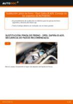 Cómo cambiar: pinza de freno de la parte delantera - Opel Zafira B A05 | Guía de sustitución