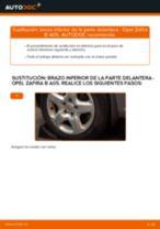 Cómo cambiar: brazo inferior de la parte delantera - Opel Zafira B A05 | Guía de sustitución