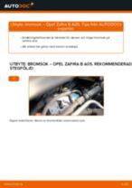 Byta bromsok fram på Opel Zafira B A05 – utbytesguide