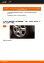 Byta främre undre arm på Opel Zafira B A05 – utbytesguide