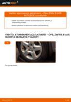 Kuinka vaihtaa etummainen alatukivarsi Opel Zafira B A05-autoon – vaihto-ohje