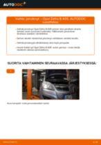Kuinka vaihtaa jarrulevyt taakse Opel Zafira B A05-autoon – vaihto-ohje