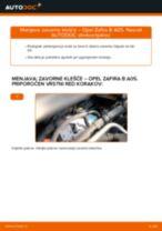 Kako zamenjati avtodel zavorne klešče spredaj na avtu Opel Zafira B A05 – vodnik menjave