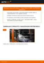Kako zamenjati avtodel zavorni diski zadaj na avtu Opel Zafira B A05 – vodnik menjave