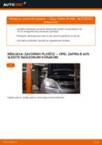 Kako zamenjati avtodel zavorne ploščice spredaj na avtu Opel Zafira B A05 – vodnik menjave
