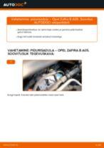 Kuidas vahetada Opel Zafira B A05 esi-pidurisadula – õpetus