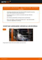 Kuidas vahetada Opel Zafira B A05 taga-piduriketaste – õpetus