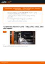 Kuidas vahetada Opel Zafira B A05 esi-piduriketaste – õpetus