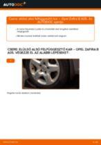 Elülső alsó felfüggesztő kar-csere Opel Zafira B A05 gépkocsin – Útmutató