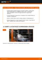 Hátsó féktárcsák-csere Opel Zafira B A05 gépkocsin – Útmutató