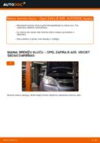 Kā nomainīt: priekšas bremžu klučus Opel Zafira B A05 - nomaiņas ceļvedis