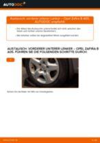 OPEL ZAFIRA B (A05) ABS Sensor wechseln : Anleitung pdf